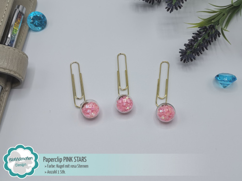 Paperclip PINK STARS